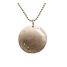 Julez Bryant 14K Rose Gold Diamond Concave Necklace