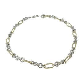 David Yurman Sterling Silver & 18K Yellow Gold Figaro Toggle Necklace