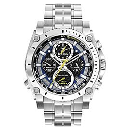 Bulova Precisionist Chronograph Stainless Steel 47mm Watch