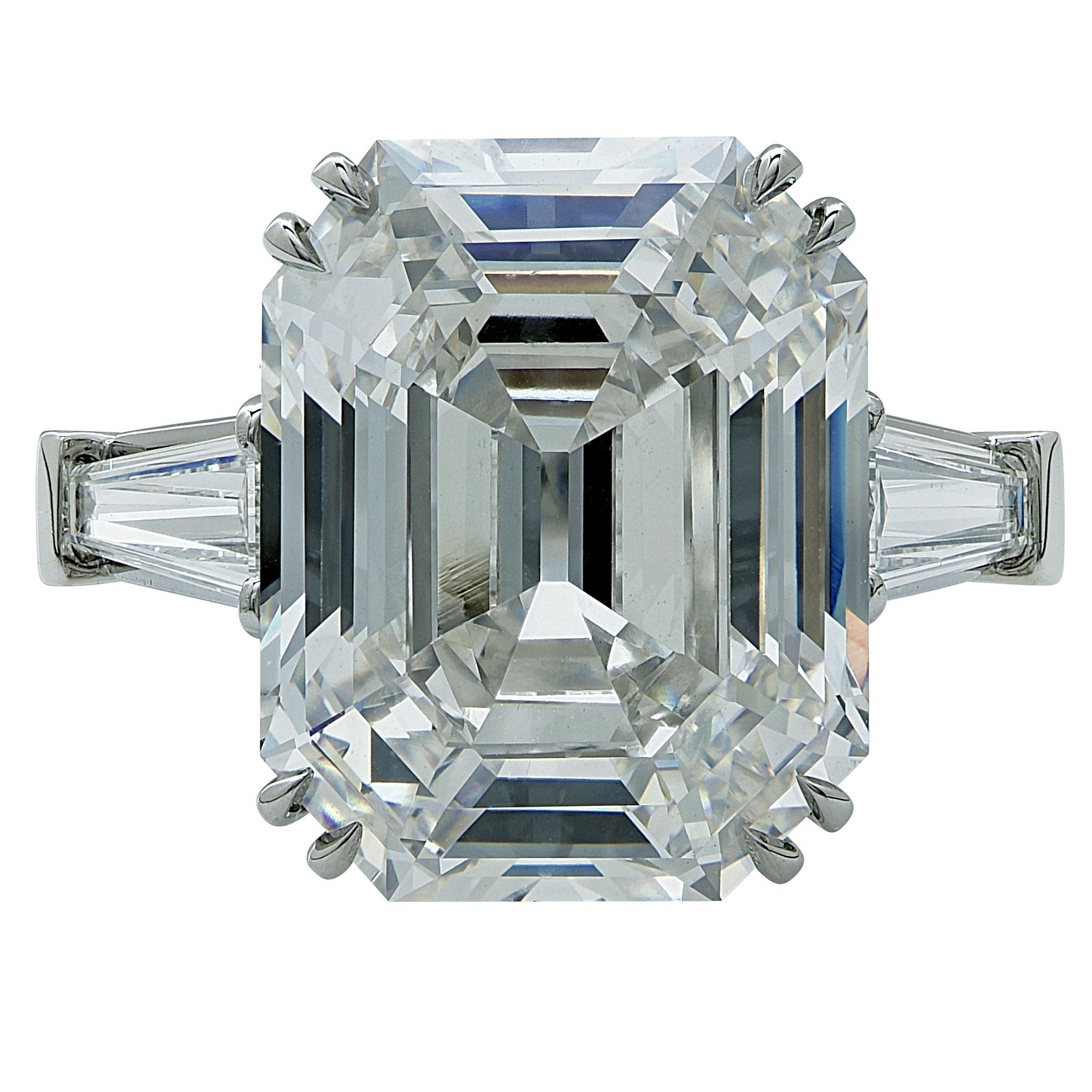 "Image of ""Platinum & 10.21ct Diamond Engagement Ring Size 6.25"""