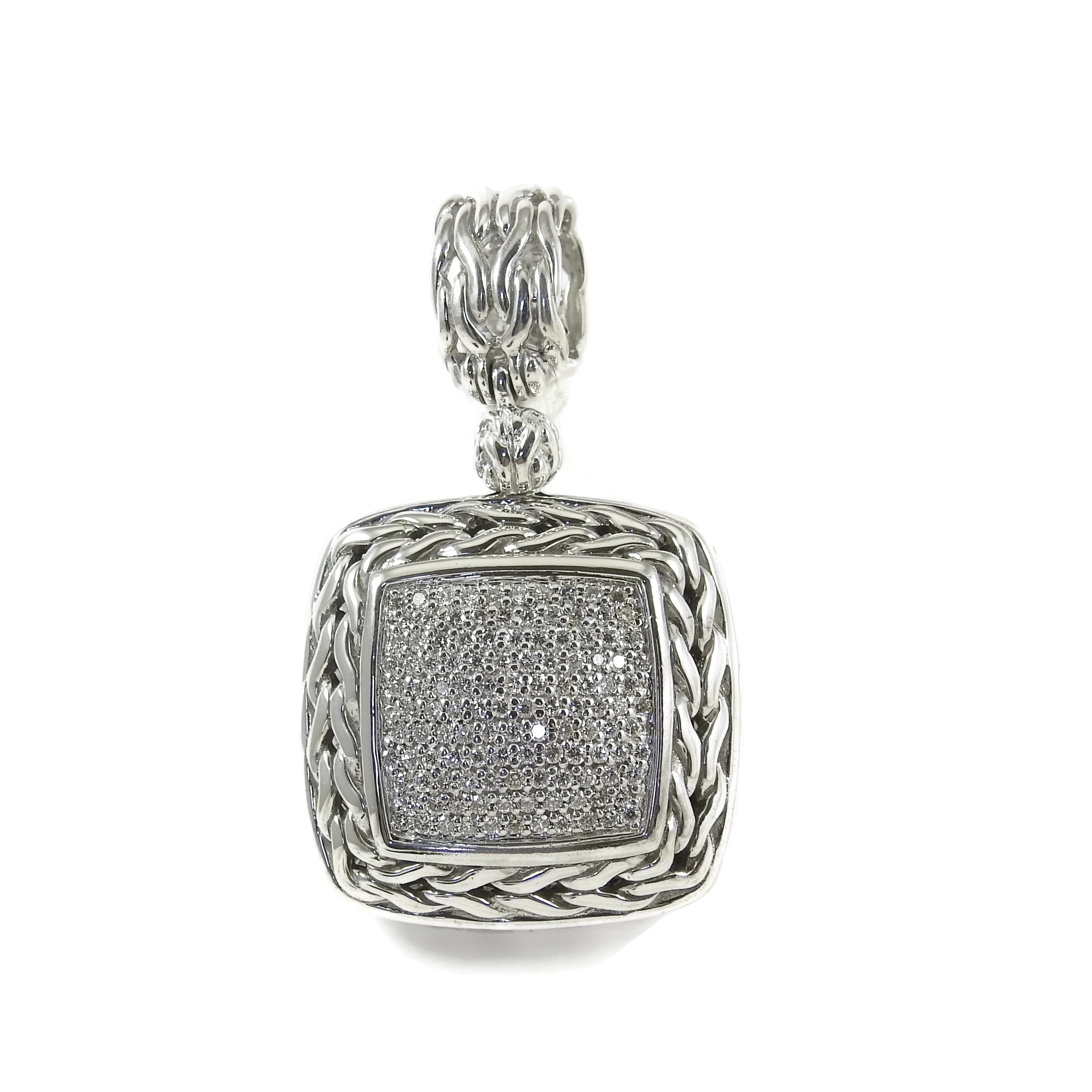 "Image of ""John Hardy Sterling Silver 0.85ct Pave Diamond Pendant Pendant"""