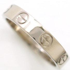Cartier Mini Love 18K White Gold Ring Size 5.75