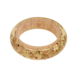 Louis Vuitton Gold Tone Metal Resin Bangle Bracelet
