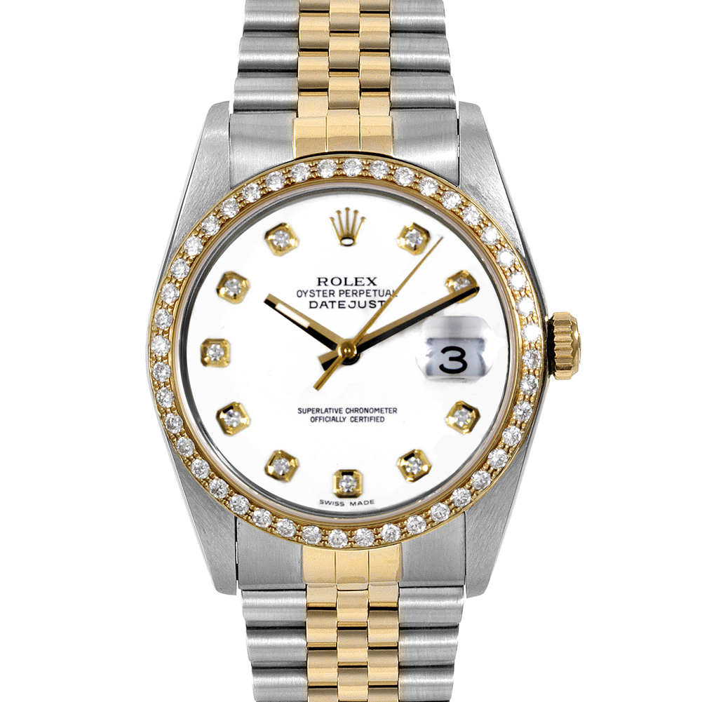"Image of ""Rolex Datejust Yellow Gold & Stainless Steel 36mm Mens Watch"""