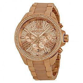 Michael Kors Wren MK6096 Rose Gold PVD Stainless Steel 41.5mm Womens Watch