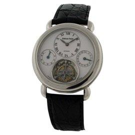 Audemars Piguet Tourbillon Platinum & Leather with Date 39mm Watch