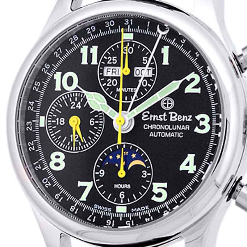 "Image of ""Ernst Benz ChronoLunar Stainless Steel Mens Watch"""