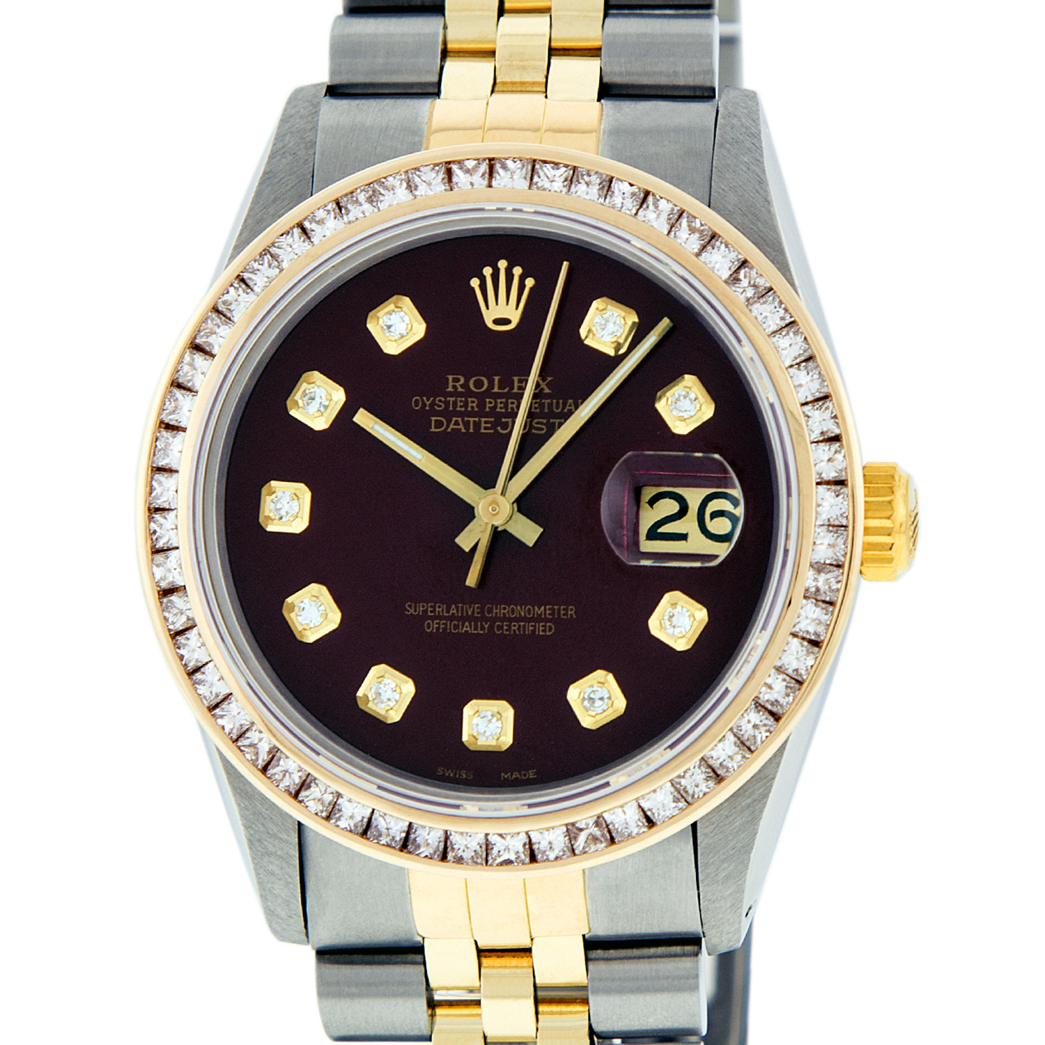 """""Rolex Datejust Yellow Gold Diamond, Sapphire Mens Watch Dial Size 36mm"""""" 884250"