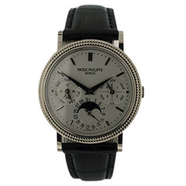 Patek Philippe 5039G Perpetual Calendar Moonphase 18K White Gold 35mm Mens Watch