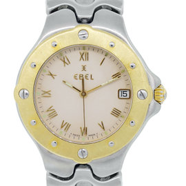 Ebel Sportwave 18K Yellow Gold & Stainless Steel 37mm Watch
