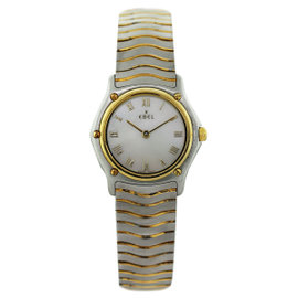 Ebel Two Tone Wave Mother of Pearl Roman Dial Womens Watch