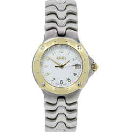 Ebel Sportwave 18K Yellow Gold & Stainless Steel Womens Watch