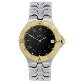 Ebel Sportwave Stainless Steel & Gold Plated 38mm Watch