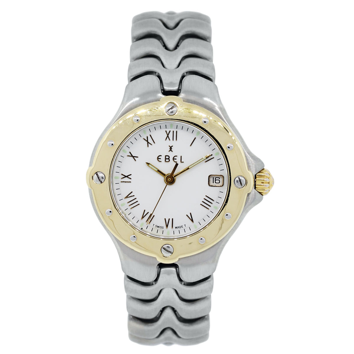 """Image of """"Ebel Sportwave White Dial Two Tone 18K Yellow Gold & Stainless Steel"""""""