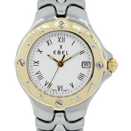 Ebel Sportwave 18K Yellow Gold & Stainless Steel 28mm Watch