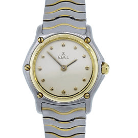 Ebel Two Tone Classic Wave Ladies Cream Dial Watch
