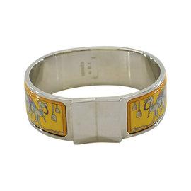 Hermes Silver Tone Metal Clic Clac Bangle Bracelet