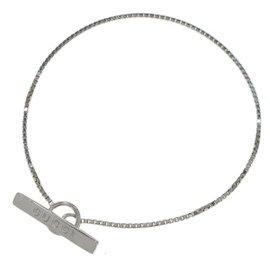 Gucci 18K White Gold Lariat Bracelet