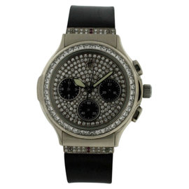 Hublot Chronograph 18K White Gold Diamond 36mm Watch