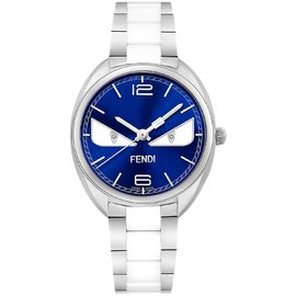 Fendi F216033004D1 Stainless Steel & Ceramic Blue Dial 34mm Womens Watch