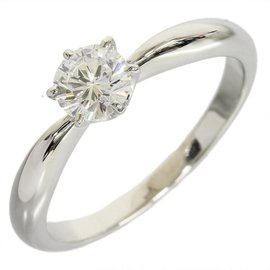 Mikimoto Platinum 0.43 Ct Diamond Solitaire Size 5.25 Ring
