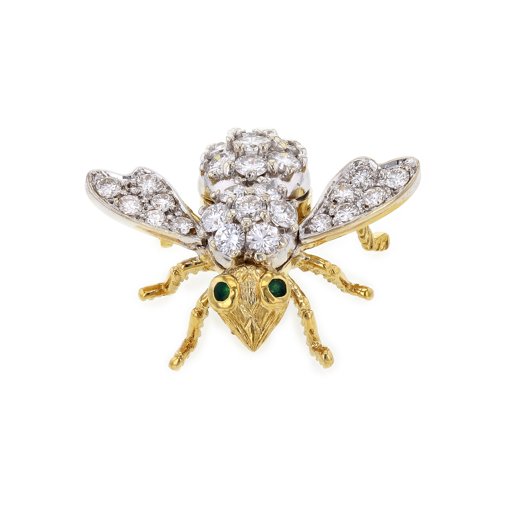 "Image of ""Hammerman Brothers 18K Yellow Gold & 4.25ct. Diamond Critter Honey Bee"""
