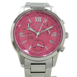 Citizen Cloth-F500 Stainless Steel Pink Dial 31mm Watch