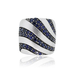 Effy Sterling Silver Blue Sapphire Band Ring