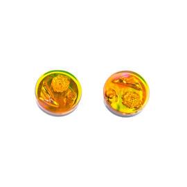 Chanel Rainbow Charm Button Earrings