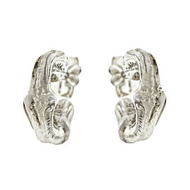 Tiffany & Co. Sterling Silver Bamboo Style Hoop Earrings
