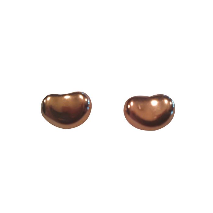 "Image of ""Elsa Peretti Tiffany 18K Gold Bean Shaped Earrings"""