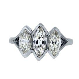 Platinum 2.00ctw Diamond Engagement Ring Size 6.5