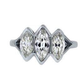 Platinum 1.91ct Diamond Engagement Ring Size 6.5