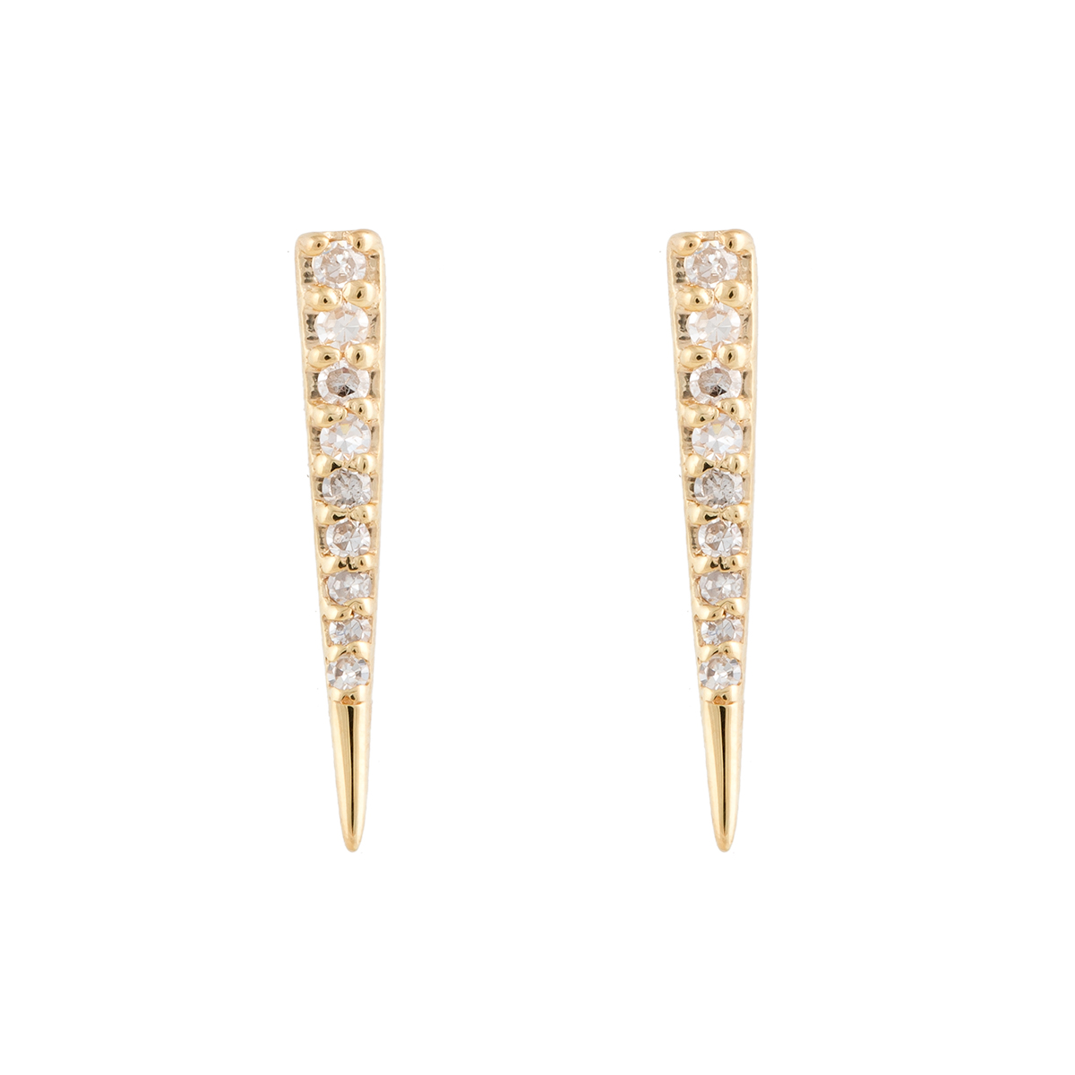 "Image of ""Jordan Scott Design Mini Diamond Pave Hoops"""