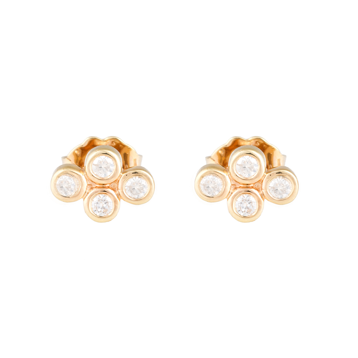 "Image of ""Jordan Scott Design 4 Bezel Cluster Stud Earring"""