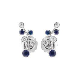 Rina Limor Sapphire & Diamond Vine Earrings