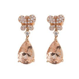 Rina Limor Morganite Dangling Earrings