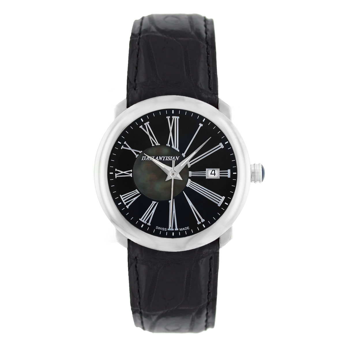 """Image of """"D'Atlantis Stainless Steel & Leather 31mm Watch"""""""