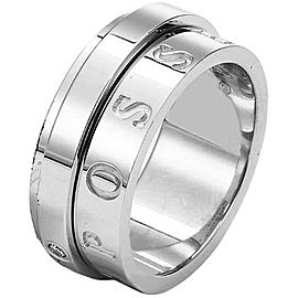 Piaget 18K White Gold Diamond Ring Size 6.5