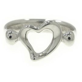 Tiffany & Co. Sterling Silver Mini Heart Band Ring Size 3.75