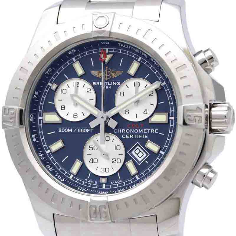 "Image of ""Breitling Colt A73388 Stainless Steel Quartz 44mm Mens Watch"""