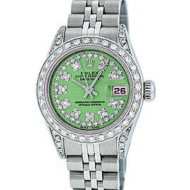 Rolex Datejust 79160 18K White Gold & Stainless Steel Diamond 26mm Watch
