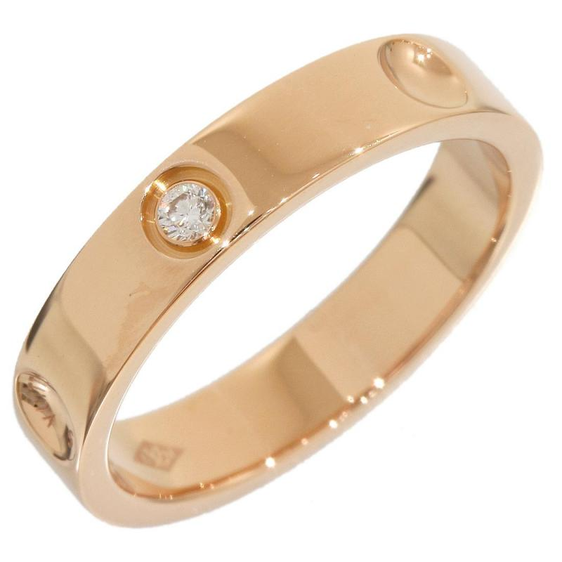 "Image of ""Louis Vuitton 18K Rose Gold Diamond Empreinte Ring"""