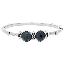 Stephen Webster 925 Sterling Silver Cat's Eye Clear Quartz Crystal Haze Superstud Bracelet