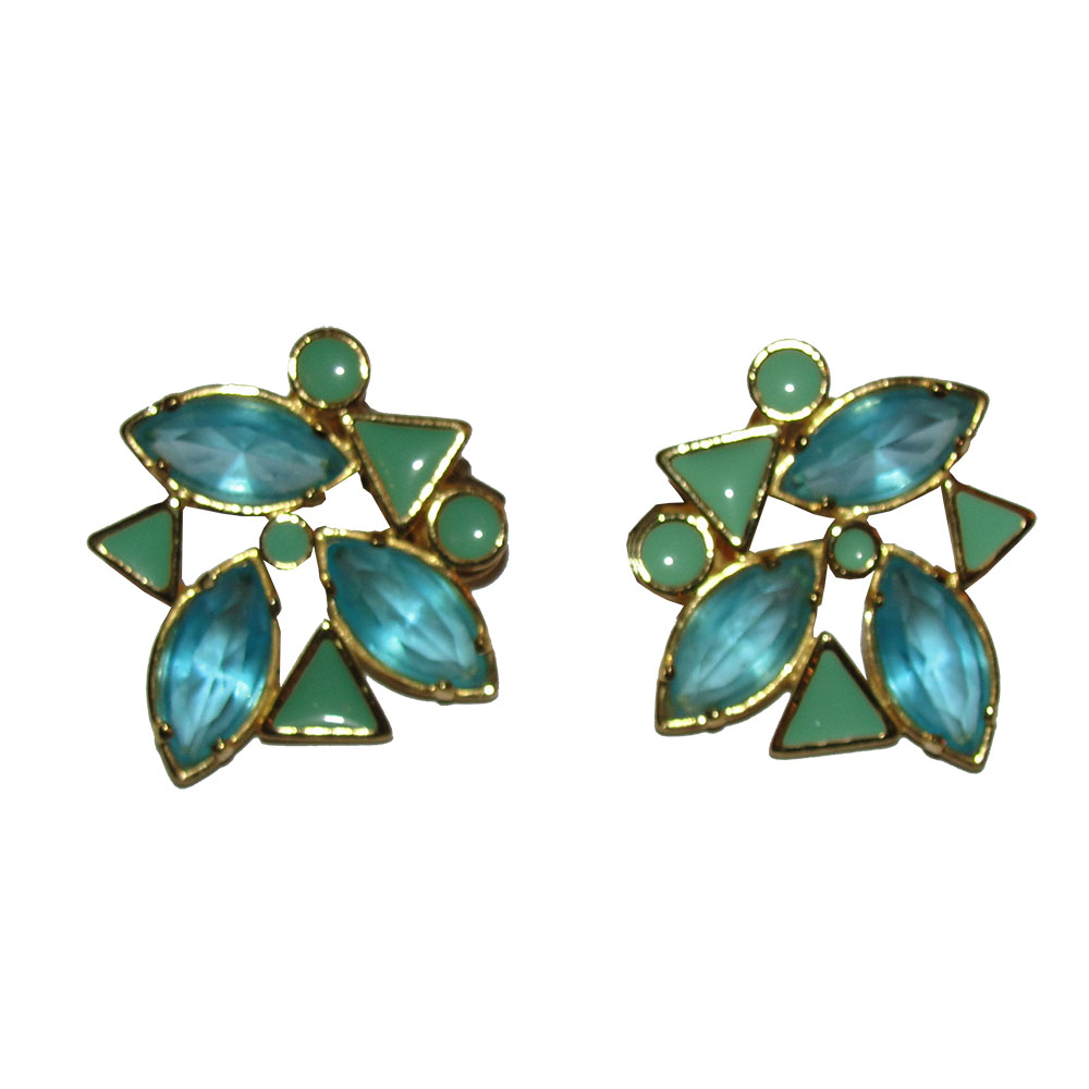 "Image of ""Yves Saint Laurent Gold Plated Blue Rhinestone and Blue Enamel"""