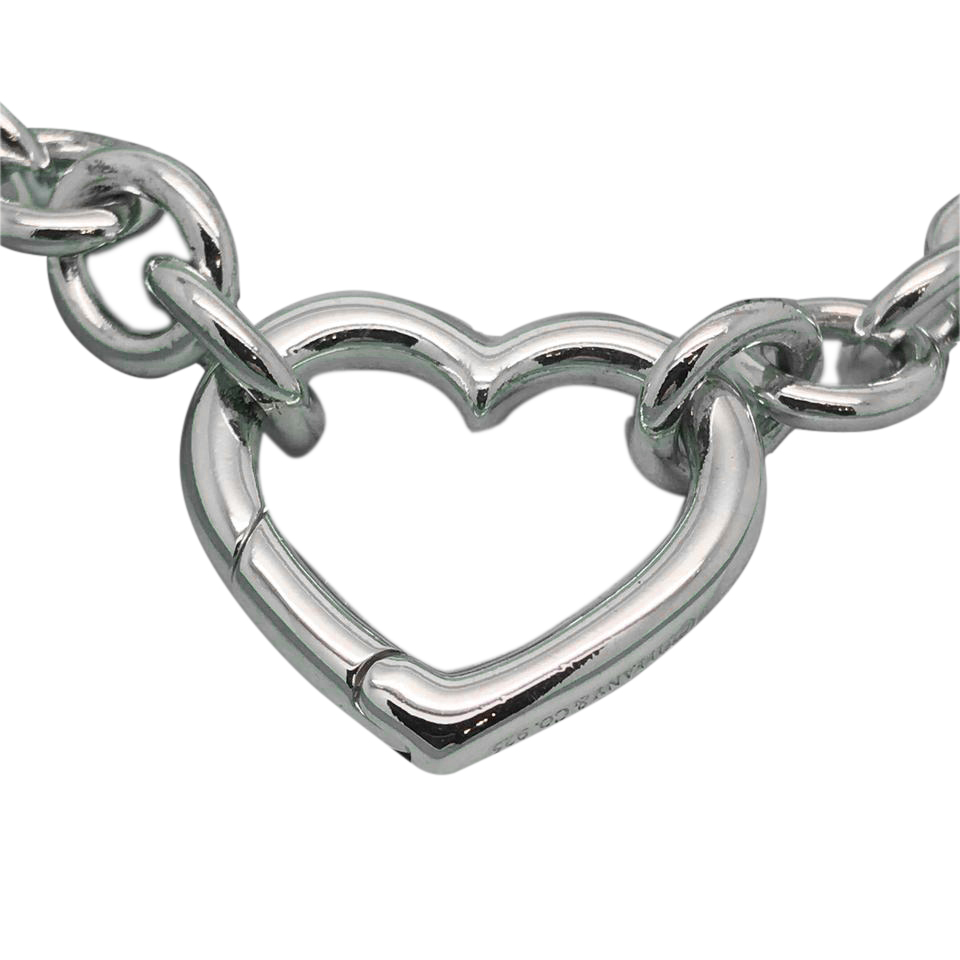 "Image of ""Tiffany & Co. Sterling Silver Heart Clasp Necklace"""