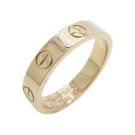 Cartier Mini Love 18K Rose Gold Ring Size 4