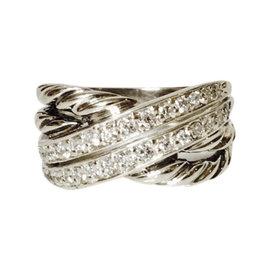 David Yurman Two Row Diamond Crossover Ring