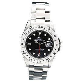 Rolex Explorer II 16570 Stainless Steel Black Dial Date 40mm Mens Watch