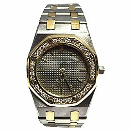 Audemars Piguet Royal Oak 18K Yellow Gold & Stainless Steel Diamond 26mm Watch